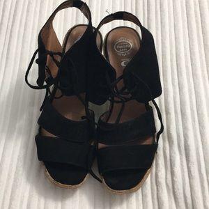 Black sandals cork heels